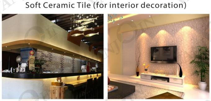Slate Travertine Soft Ceramic Tile Lightweight , Indoor exterior wall tiles Easy Installed