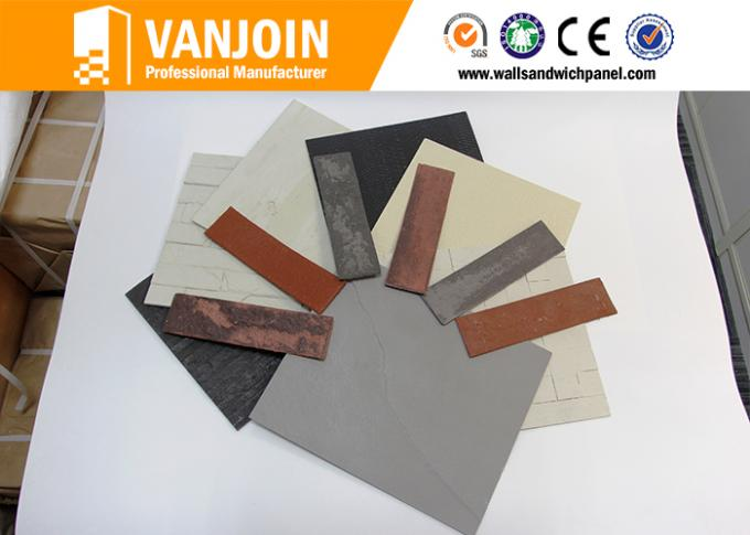 Customized Lightweight / Fireproof Wall Tiles With Flexible Clay Material , 1200*600MM