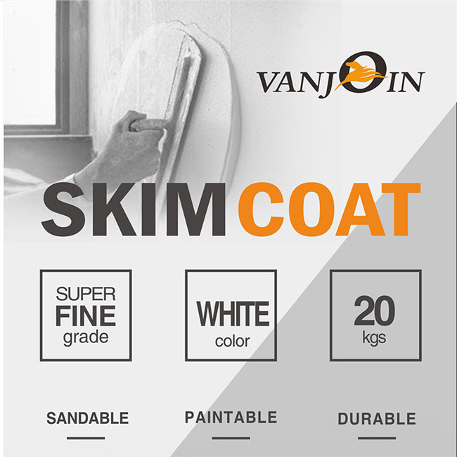 Vanjoin Group Super Fine Sandable Durable Skim Coat Putty Powder