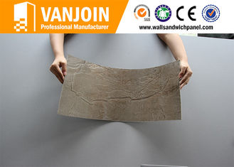 China Flexible Clay Decorative Stacked Stone Tiles 2.5 Thickness , Soft Stone Tiles supplier