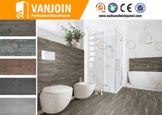 China Anti Slip Waterproof Flexible Ceramic Tile , 3MM Wood Effect Floor Tile supplier