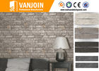 Unique Retro Style Flexible Wall Tiles , Ecological Split Brick Tile Flame Retardant