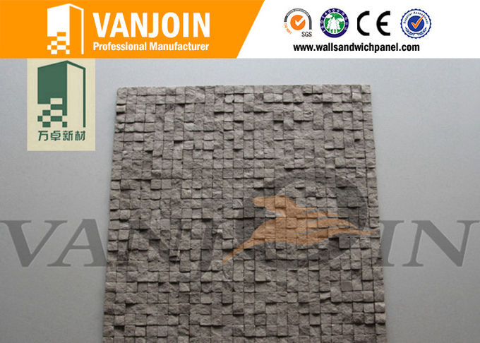 Low Carbon Anti Seismic Soft Ceramic Tiles With Clay Material , Stone Facing