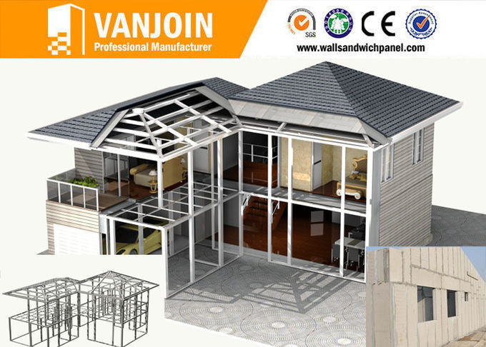 Fast Installation Modern Prefab Home with Structures and Sandwich Wall Panels