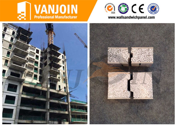 Composite Heat Insulation EPS Cement Sandwich Wall Panel 60 / 75 / 90 / 100 / 120 / 150mm Thickness