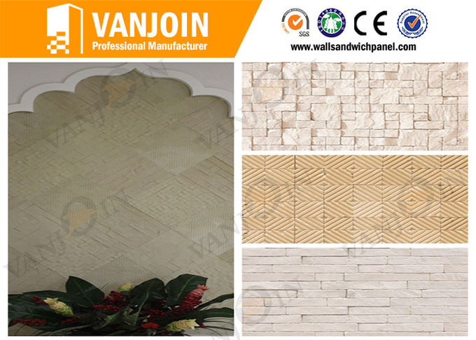 Waterproof Flexible 600x300 Outdoor Decorative Stone Tiles For Public Buildings