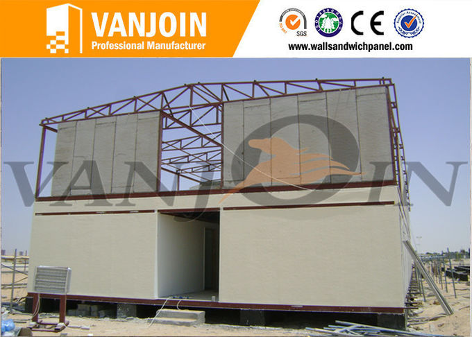 Heat Resistant Insulated  EPS Foam Cement Sandwich Wall Panel Fire Rated