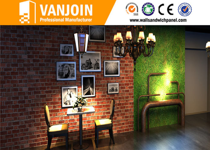Outdoor And Indoor Flexible Clay Composites Brick Effect Wall Tiles 3D Effect Light Weight